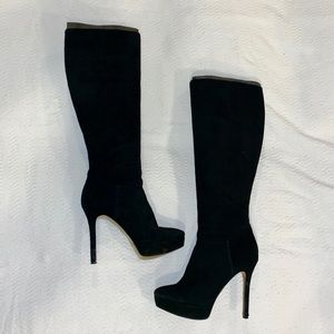 "NINE WEST ""FULL BLAST"" KNEE HIGH SUEDE BOOTS"